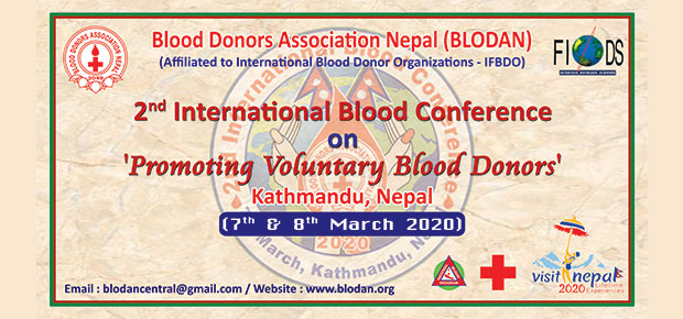 2nd International Blood Conference on promoting voluntary blood donors